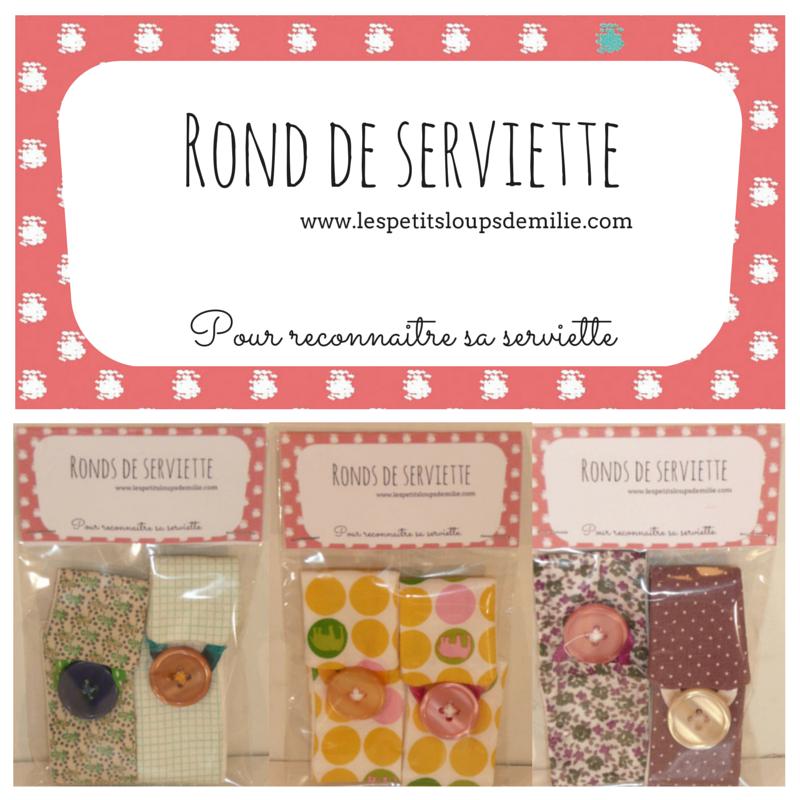#Rond  de  serviette#, www.lespetitsloupsdemilie.com