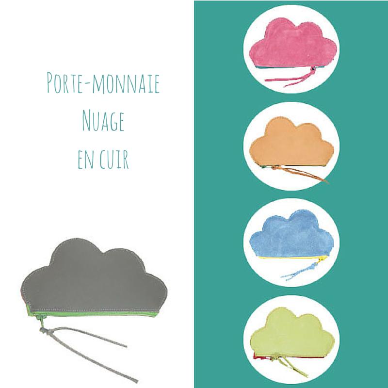 #porte-monnaie# nuage # cuir#, www.lespetitsloupsdemilie.com