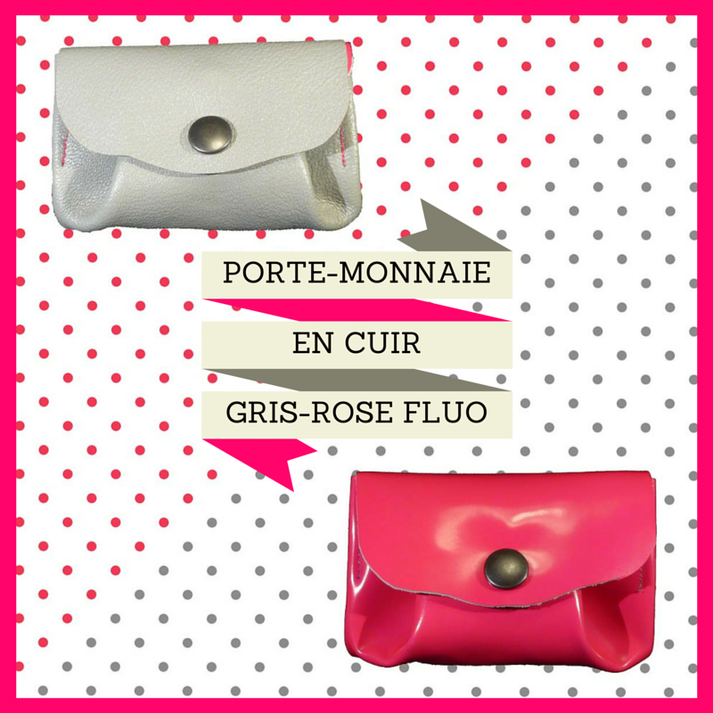#porte-monnaie en cuir#fluo#, www.lespetitsloupsdemilie.com