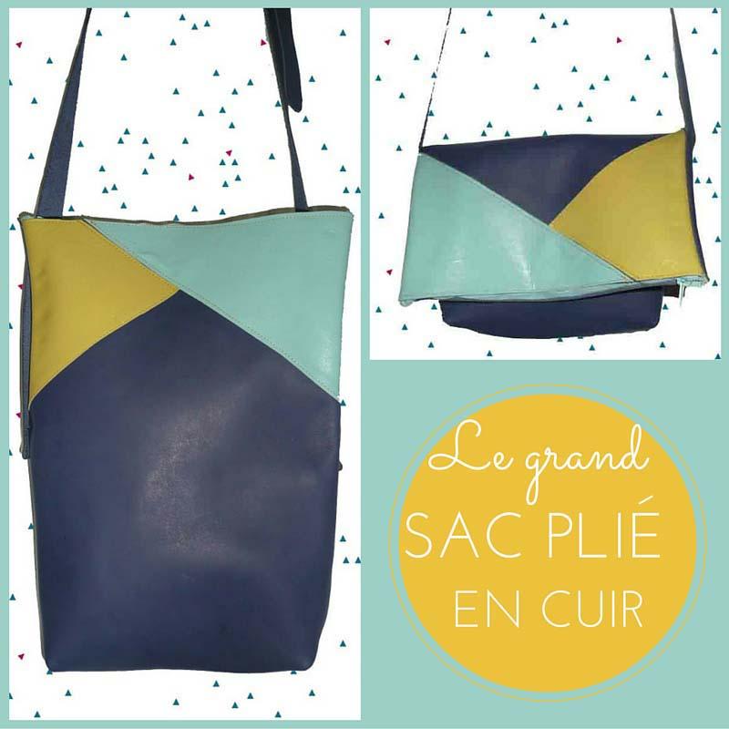 #grand sac plier en cuir#, www.lespetitsloupsdemilie.com