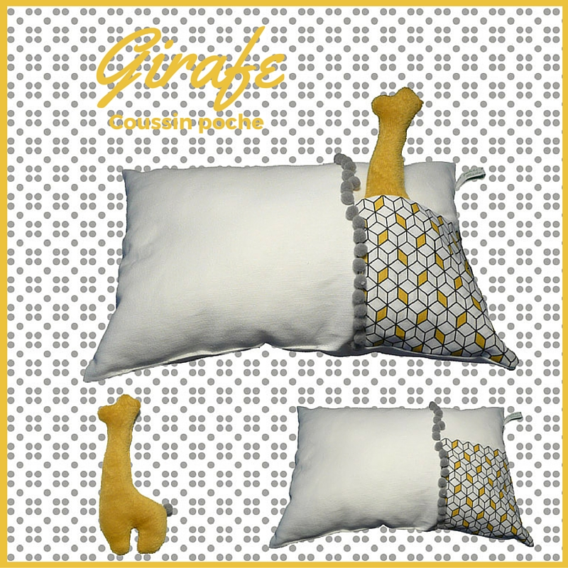 #coussin#poche#girafe, www.lespetitsloupsdemilie.com