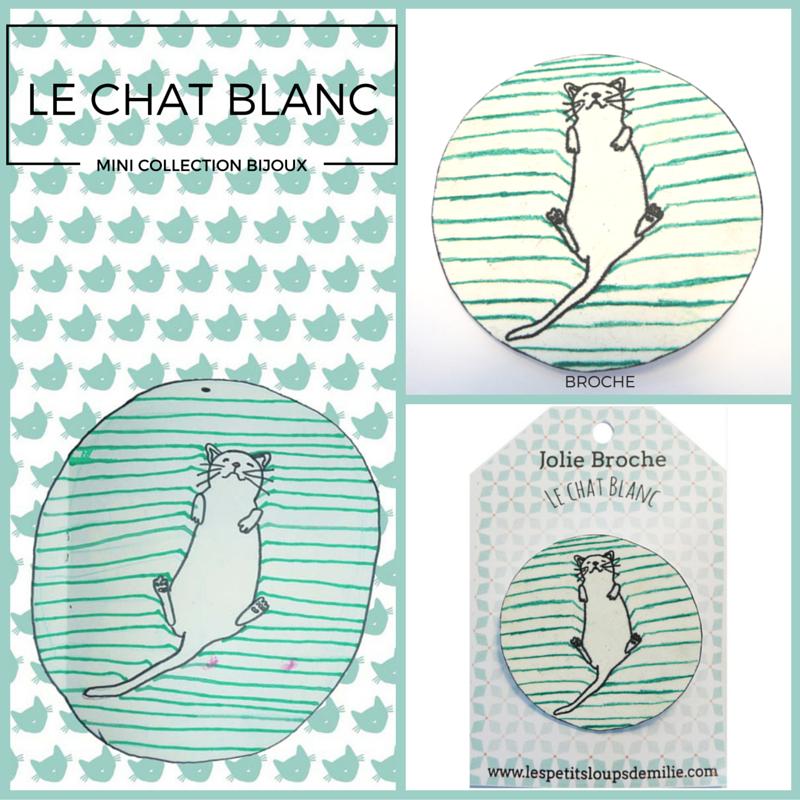#bijoux#chat#blanc#, www.lespetitsloupsdemilie.com