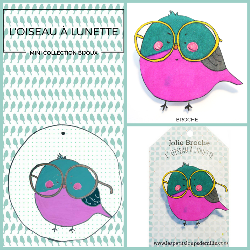 #bijoux#oiseau#lunette#, www.lespetitsloupsdemilie.com