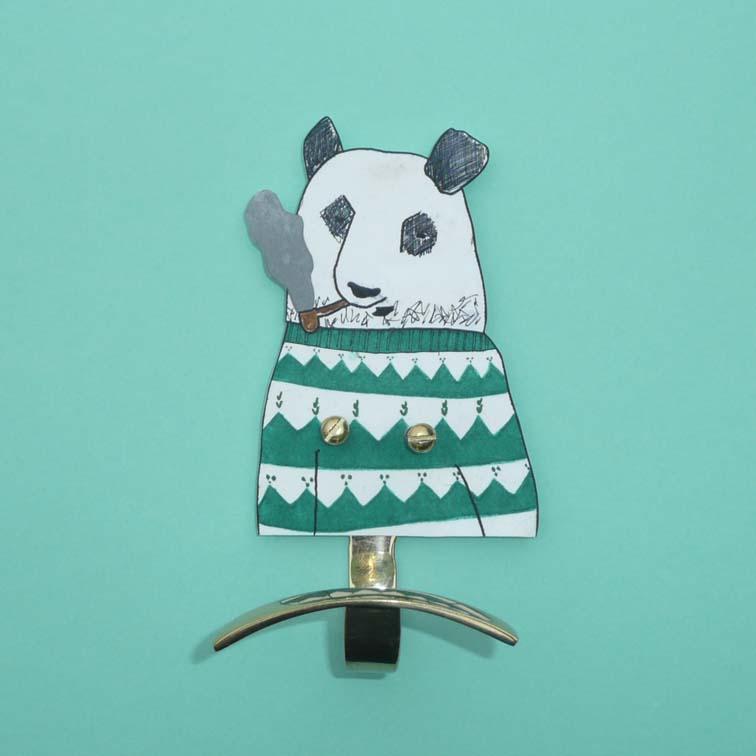 le panda à la pipe